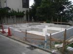 横浜市金沢区、建売分譲の現場、進行中です。